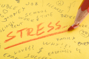 Stress - Words on Note Pad - Stressors